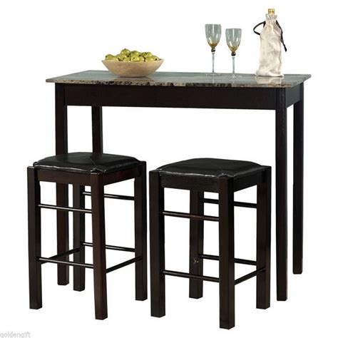 Pub Table Dining Set 3 Counter Height Dining Set Tavern Pub Furniture Kitchen Coffee Table Bar Ebay