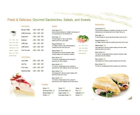 canteen menu template 30 restaurant menu templates designs template lab