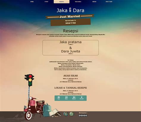 desain undangan pernikahan vespa undangan pernikahan online desain undangan nikah online