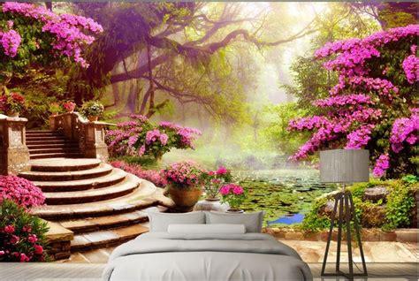 custom  wall murals background garden garden scenery