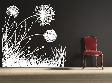 dandelion wall sticker dandelion field 2 uber decals wall decal vinyl decor
