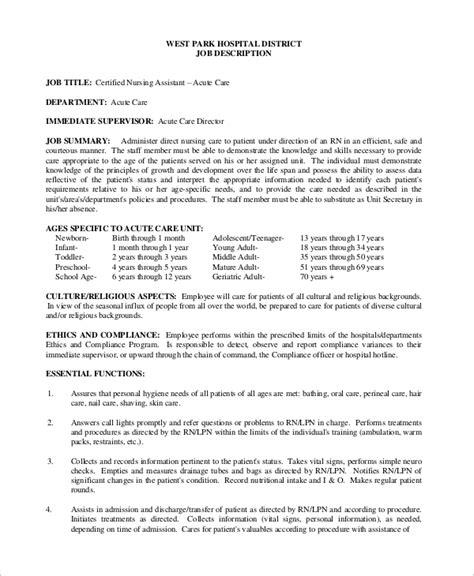 cna job description applecool info