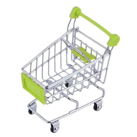 Shopping Cart Ornament - storage mini shopping cart trolley desktop decor ornament
