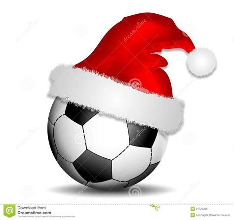 imagenes navidad futbol fondo con el bal 243 n de f 250 tbol y el sombrero de la navidad