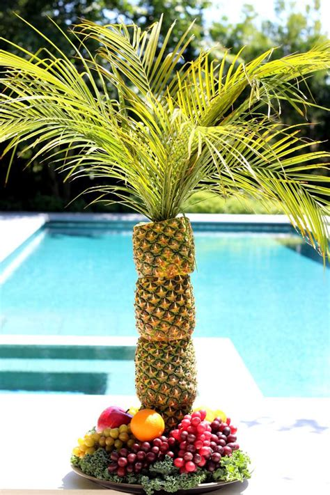 fruit palm tree kit how to make a pineapple palm tree for a serving tray ehow