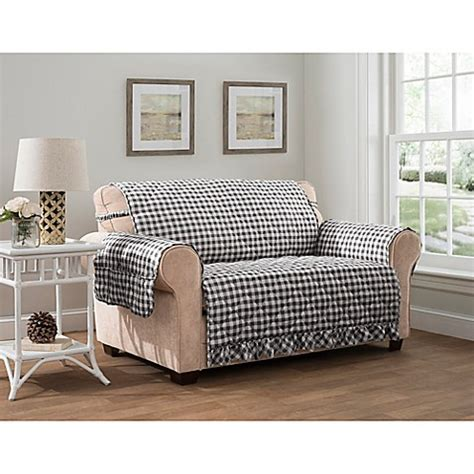 gingham sofa and loveseat gingham xl sofa protector bed bath beyond