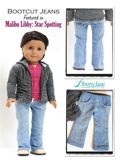 jeans pattern for american girl doll boot cut jeans 18 inch doll clothes pattern for american