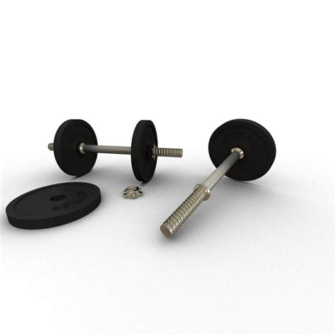 Barbell Kettler 3d model kettler barbell