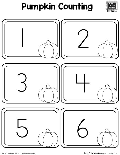 printable pumpkin number cards printable pumpkin number cards a to z teacher stuff