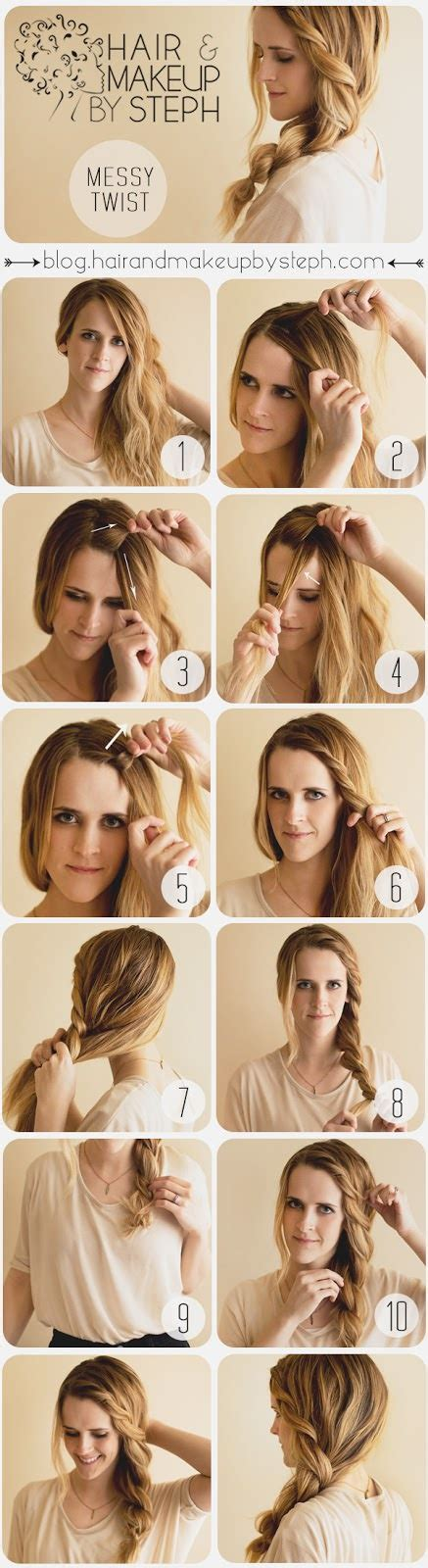 braided hairstyles seventeen messy braided hairstyle side swept french braid tutorial