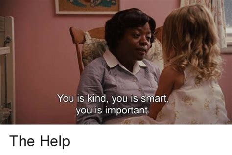 The Help Meme - you is kind you is smart you is important the help help