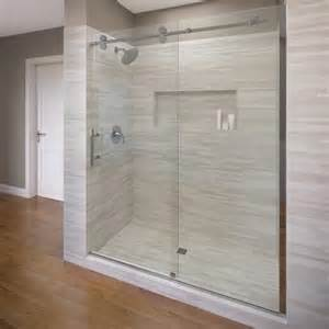basco shower door roda by basco vinesse rolling door and fixed panel