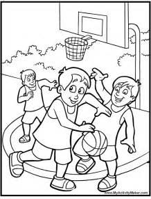 desenho basquete az dibujos colorear