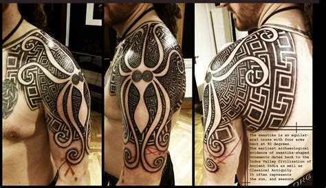 greek tattoo design swastika shoulderpiece by meatshop on deviantart