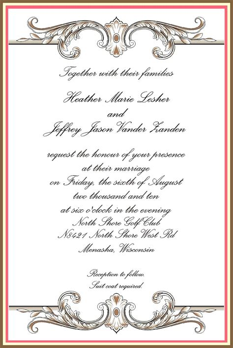 formal invitation cards templates free formal invitation templates free cloudinvitation