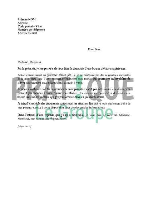 lettre de recours bourse crous application letter sle modele de lettre de demande bourse