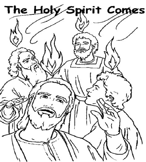 Holy Spirit Coloring Pages For Children by Pentecost Coloring Pages For Children Coloring Home