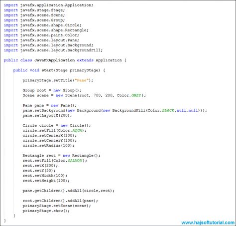 javafx layout panes javafx pane javafx tutorial