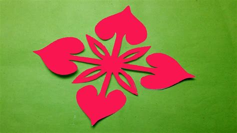 - how to make easy simple paper cutting flower paper