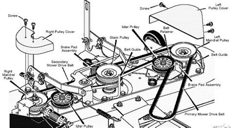 mtd 46 inch deck belt diagram repair tip quot mower belt diagrams 4 quot fixya