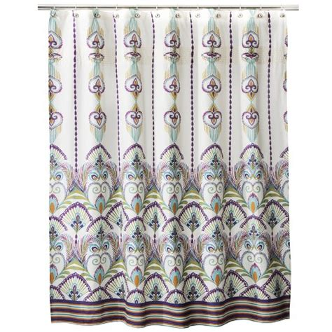 boho shower curtain boho boutique luca shower curtain target