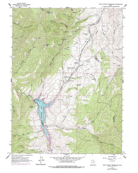 topographical map of utah east reservoir topographic map ut usgs topo