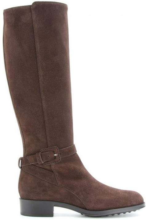 tod s suede boots in brown chocolate lyst