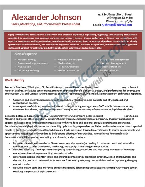 Mid Career Resume by Sle Resumes Resume Success