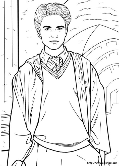 harry potter coloring book indonesia coloriage coloriage de cedric diggory