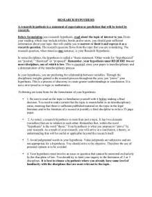 Hypothesis In Research Paper by Hypothesis Exle