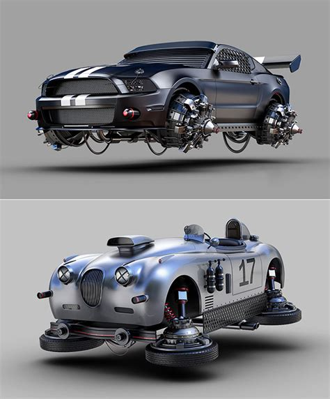 Back To The Future Ford by Hovering Ford Mustang And How Other Vehicles Might Look In