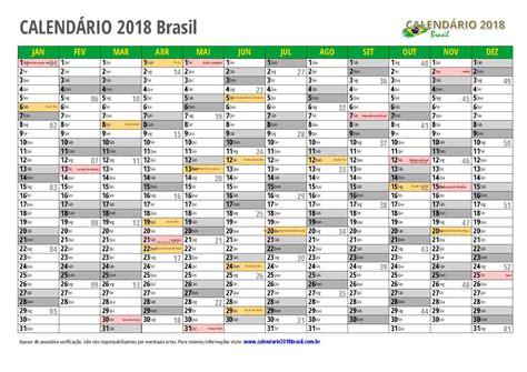 Calendario Nacional 2018 Calend 193 2018 Para Imprimir Feriados