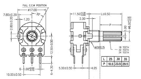 ohm dual logarithmic rotary potentiometer technical data