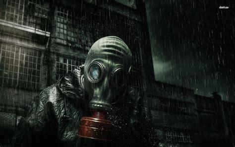 Kacamata Mask Modulargoogle Masker Smoke gas mask wearing a gas mask in the wallpaper digital wallpapers steunk