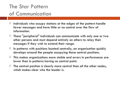 patterns of business communication in an organization organizational communication