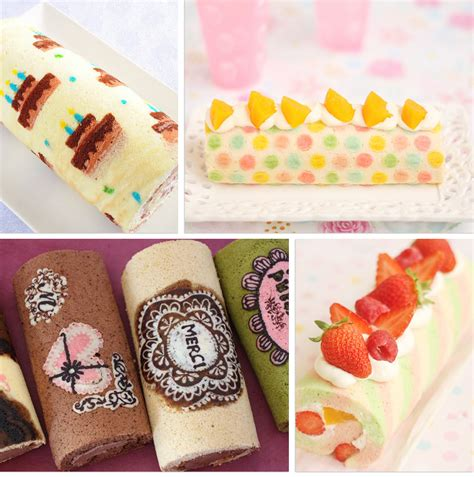 japanese patterned swiss roll japanese deco roll cake more than a swiss roll