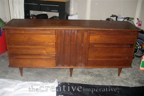 Refinished Mid Century Dresser by The Creative Imperative Refinished Mid Century Modern