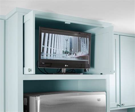 tv in kitchen cabinet 25 best ideas about tv in kitchen on pinterest a tv built in integrated appliances and tv