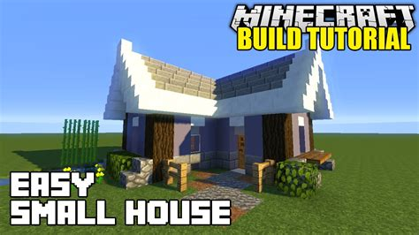 how to build a little house minecraft how to build a small house tutorial easy survival minecraft house youtube
