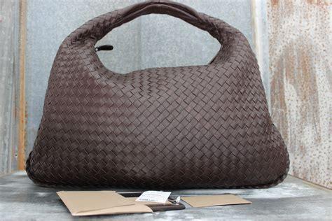 Bottega Veneta Sturzzo Intercciato Handbag by Bottega Veneta Ebano Intrecciato Nappa Large Veneta Bag