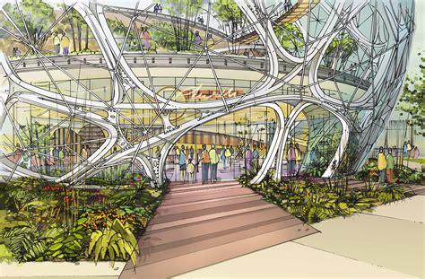 Open Concept House Plans by Nbbj S Biodome For Amazon Approved By Seattle Design Board