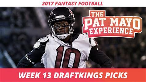 Week 13 Sleepers by 2017 Football Week 13 Draftkings Picks Preview