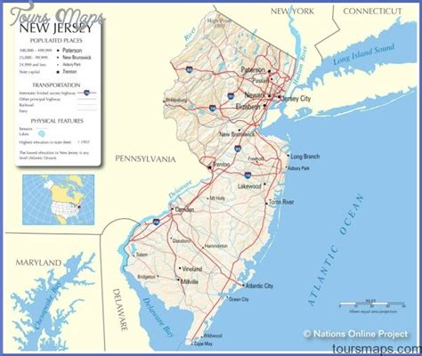 map of new jersey and new york map new york new jersey bnhspine