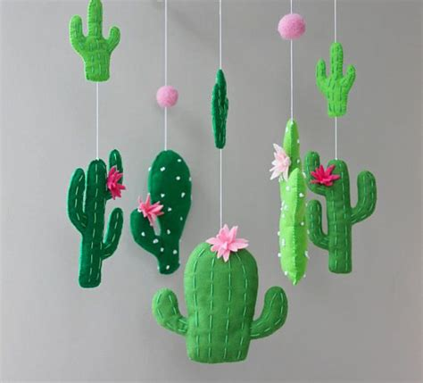 Cactus Stringlight Kawat cactus mobile cactus baby mobile cactus nursery cactus