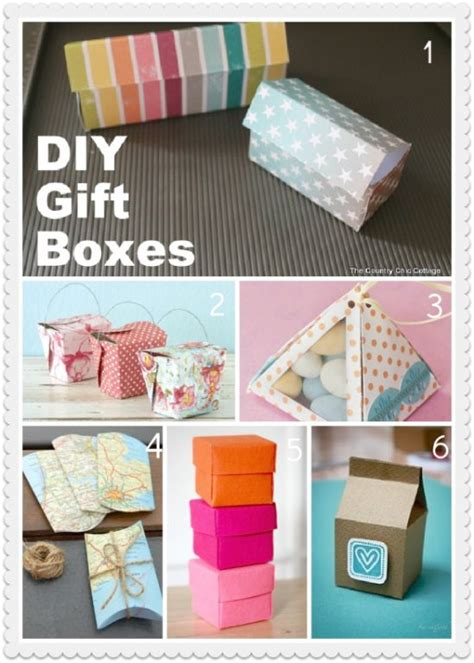 Handmade Gift Box Tutorial - pretty gift boxes templates tutorials
