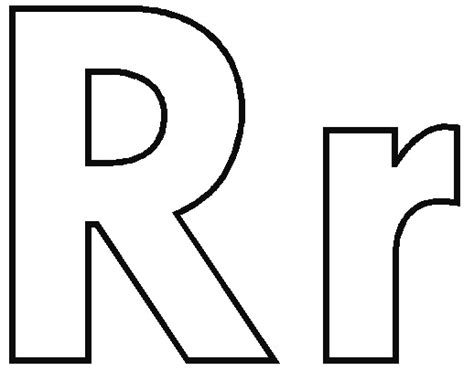 Lowercase R Coloring Pages by Alphabet O Thu S Materialforenglishclasses