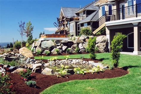 how to do backyard landscaping backyard landscaping ideas sloped yard outdoor furniture