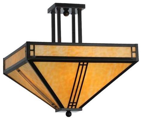 Craftsman Ceiling Lights Meyda Lighting Semi Flush Mount 143407 Craftsman Flush Mount Ceiling Lighting By Shopfreely