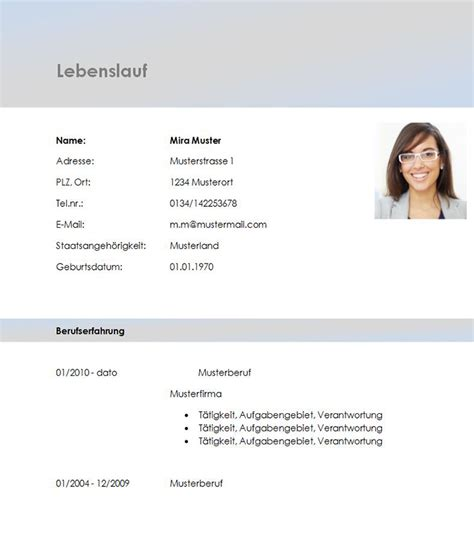 Lebenslauf Muster Manager Lebenslauf Vorlage Account Manager