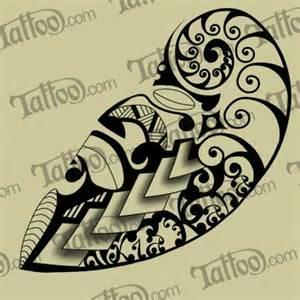maori koru fern with script kia kaha